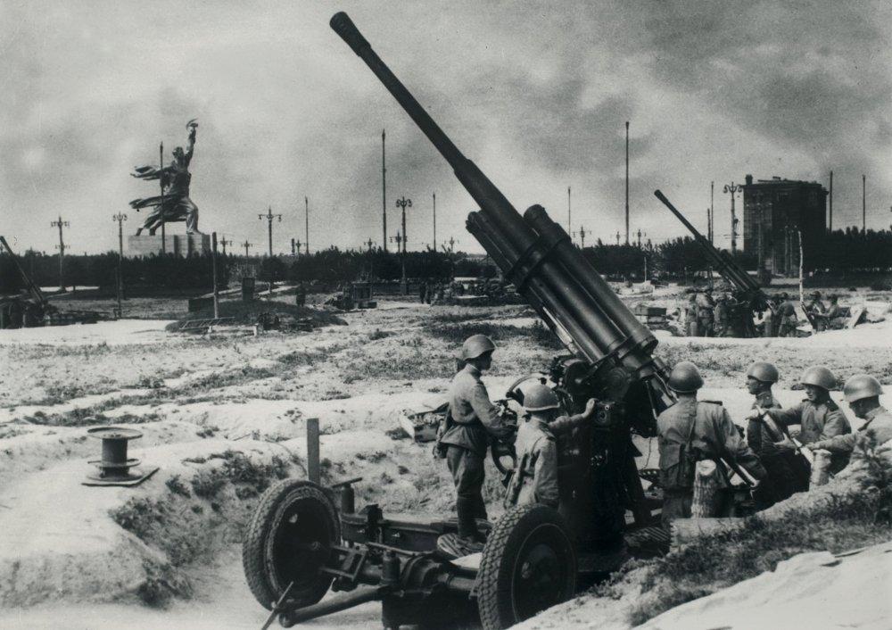 Un régiment d'artillerie antiaérienne, Moscou 1941