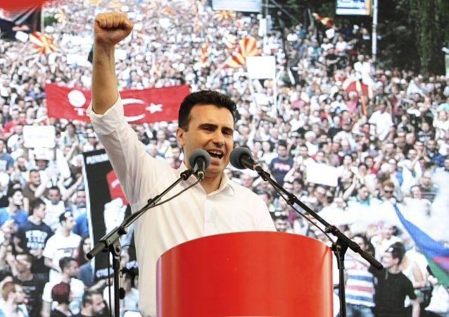 L'opposition macédonienne manifeste à Skopje