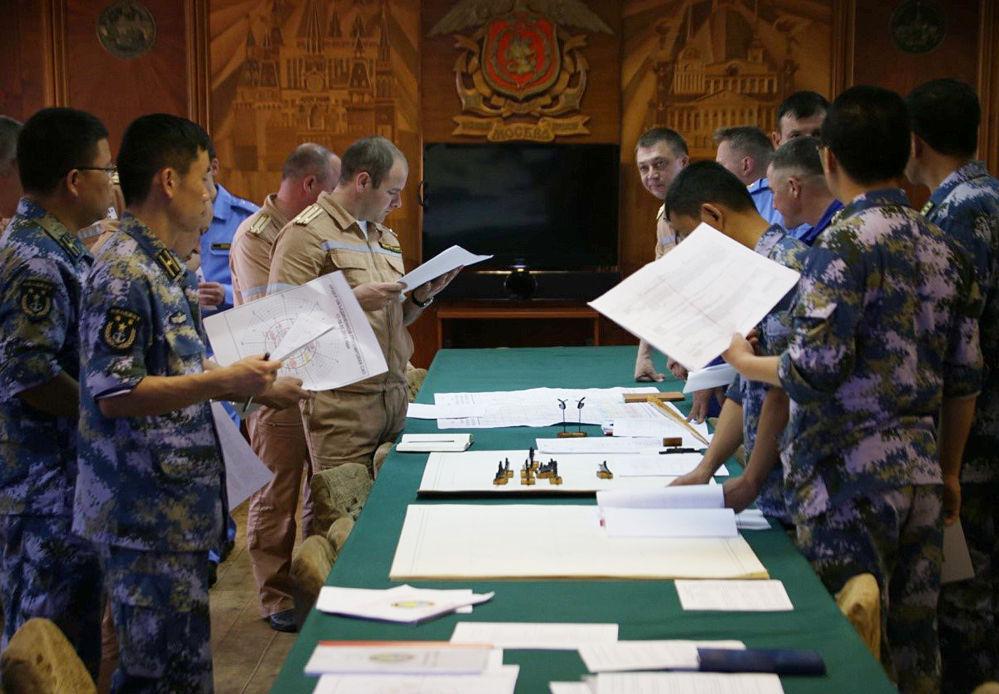 L'état-major de l'exercice Joint Sea 2015