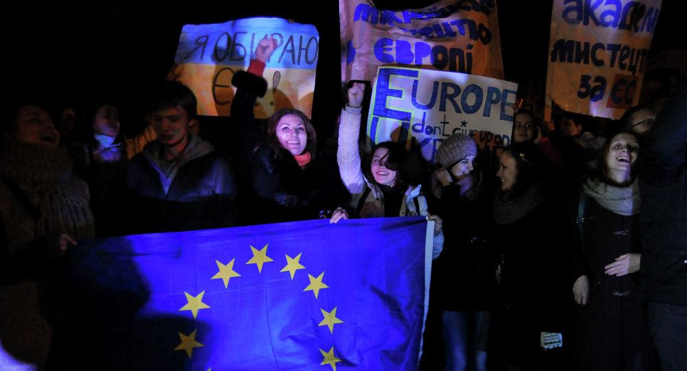 Ukrainiens aspirant à adhérer à l'UE
