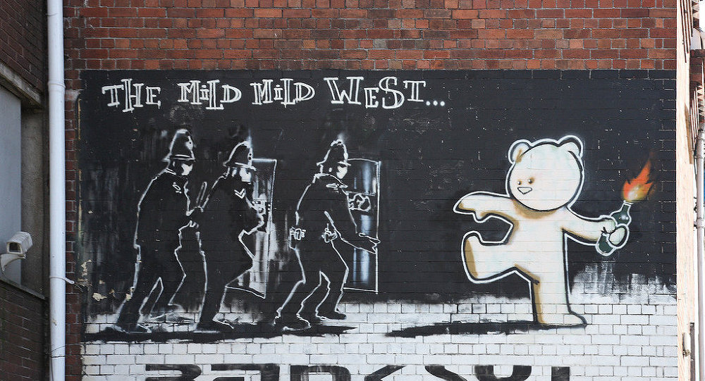 Graffiti de Banksy Mild Mild West