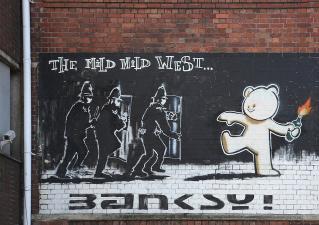 Graffiti de Banksy Mild Mild West