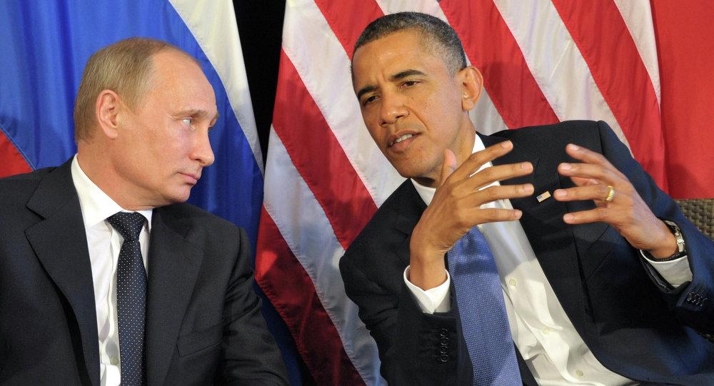 Vladimir Poutine (à gauche) et Barack Obama