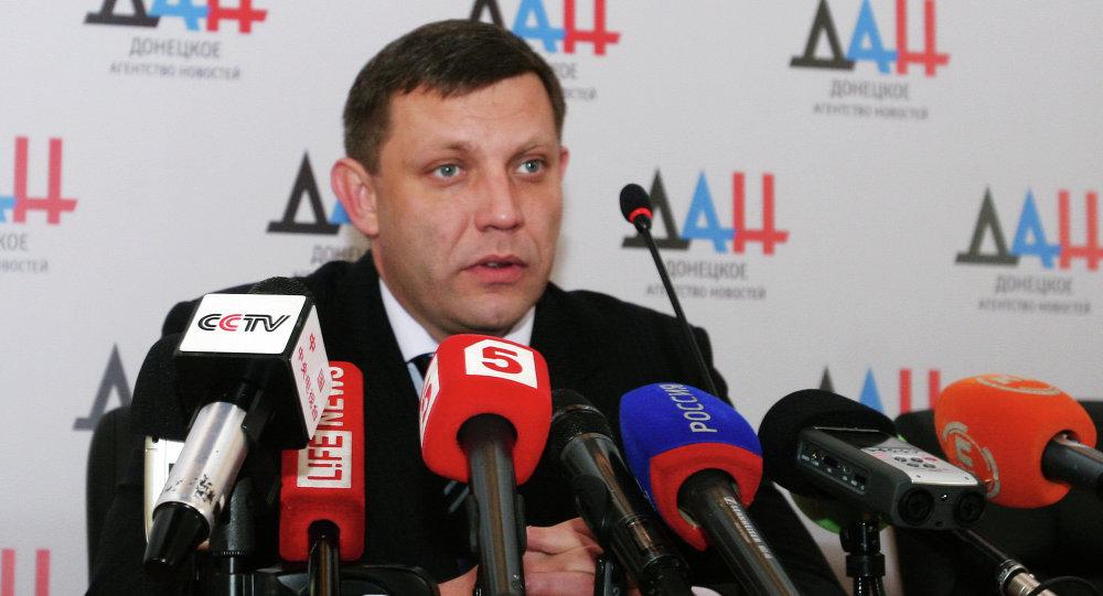 Alexandre Zakhartchenko, chef de la DNR