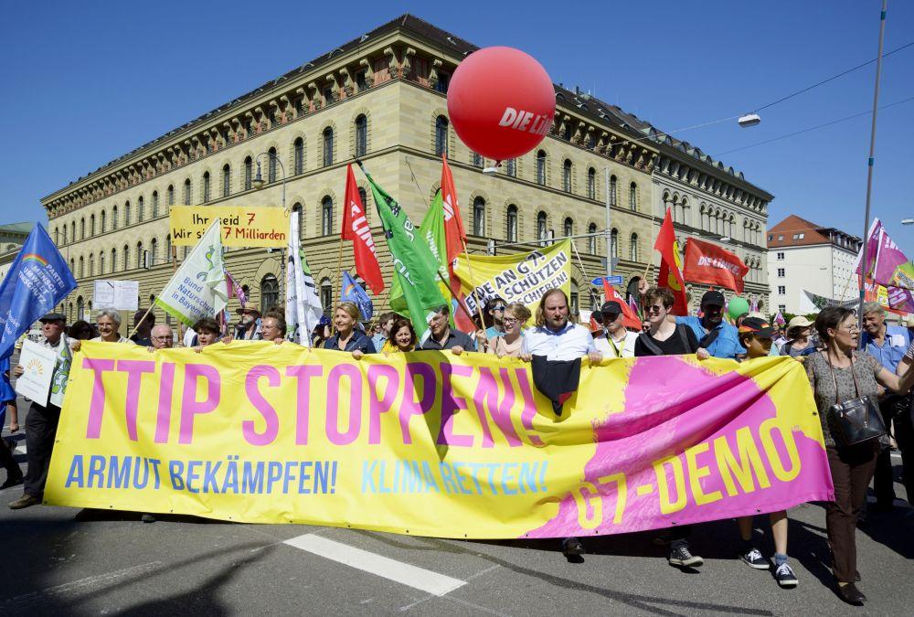 Manifestation contre le sommet du G7 à Munich