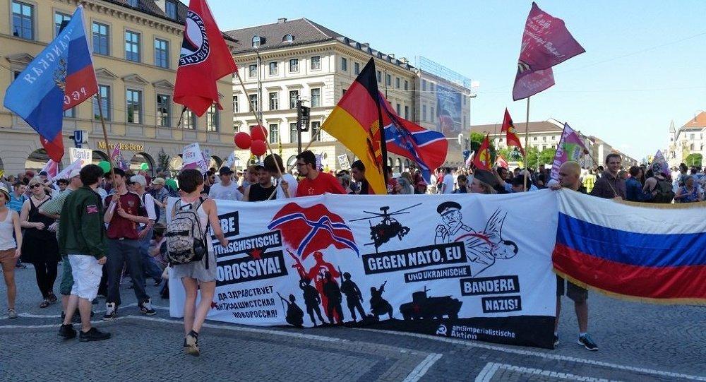 Grande manifestation contre le G7 à Munich