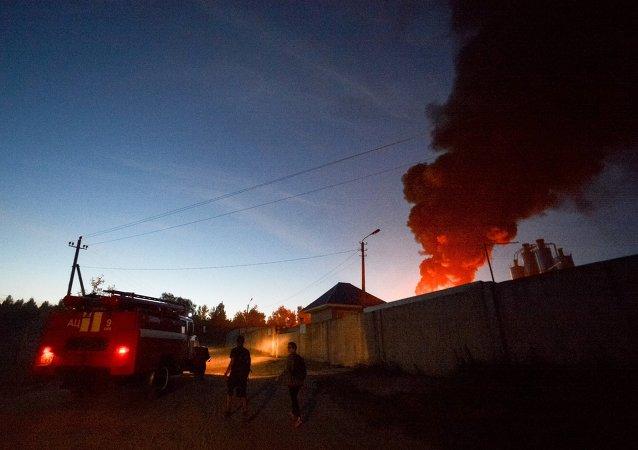 Incendie en Ukraine