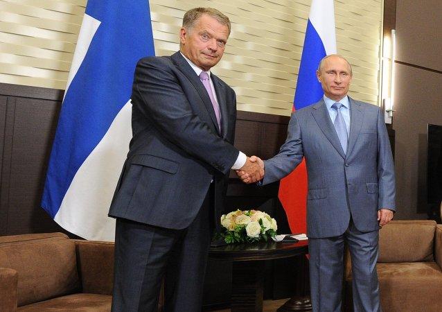Sauli Niinistö et Vladimir Poutine