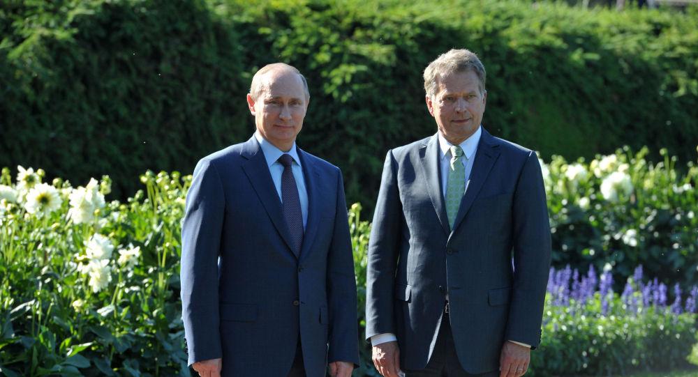 Sauli Niinistö et Vladimir Poutine. Archive photo