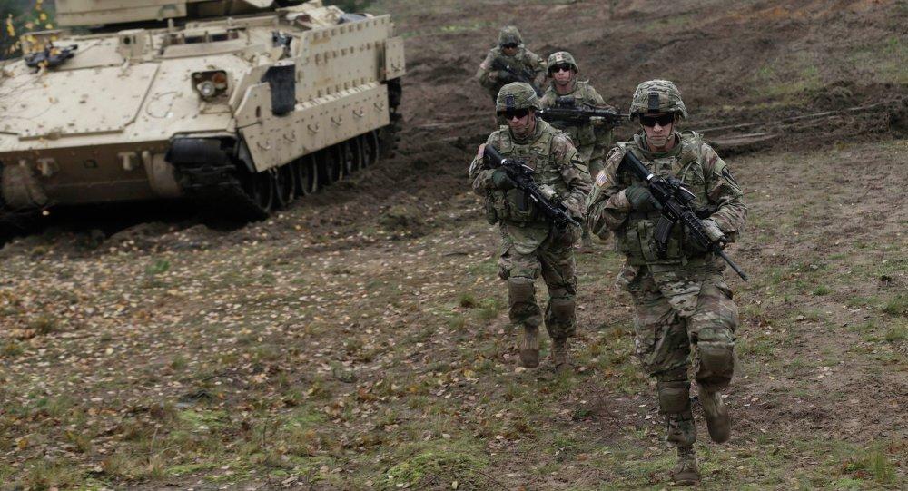 Soldats américains lors d'un exercice en Lettonie
