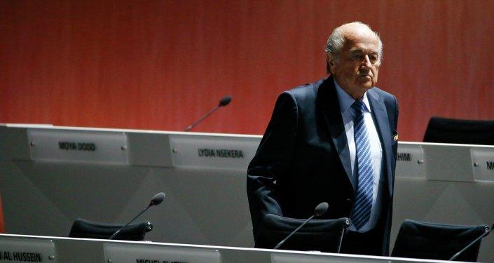 le président de la FIFA, Sepp Blatter
