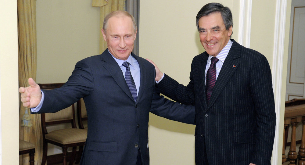 Vladimir Poutine et  François Fillon. Archive photo