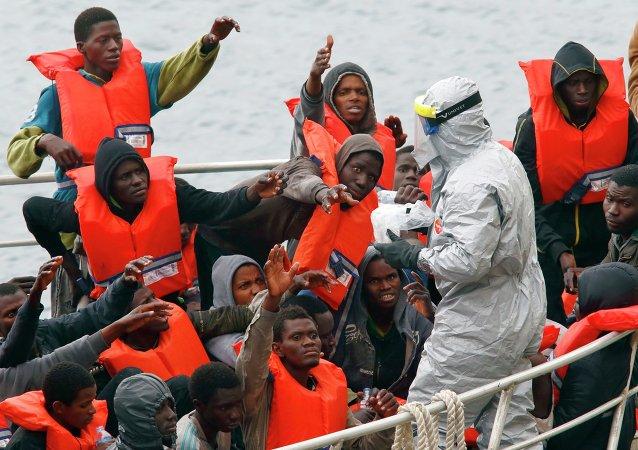 Des migrants rescapés