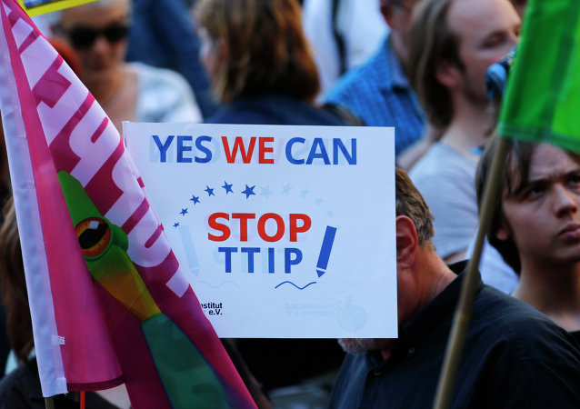 Protestations contre l'accord TTIP