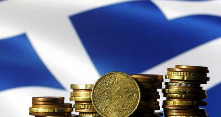Drapeau de la Grèce et euros