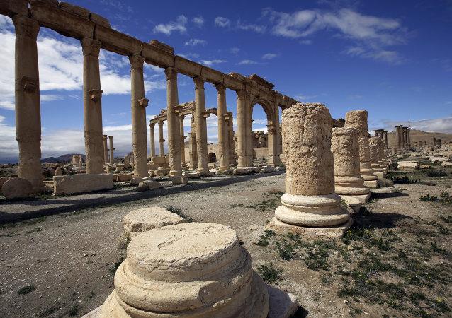 colonnes antiques,Palmyre