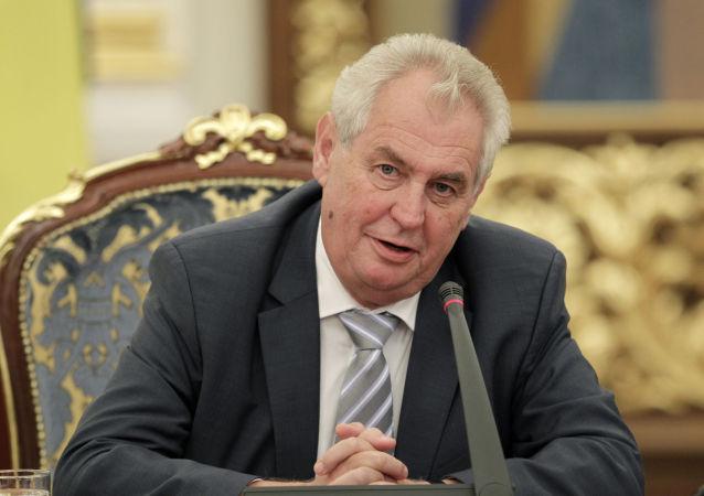 Miloš Zeman, président de la République tchèque