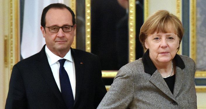 Francois Hollande et Angela Merkel