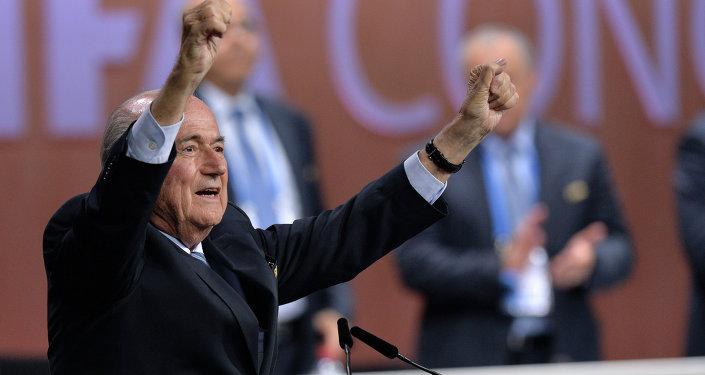 Président de la FIFA, Joseph Blatter. Archive photo