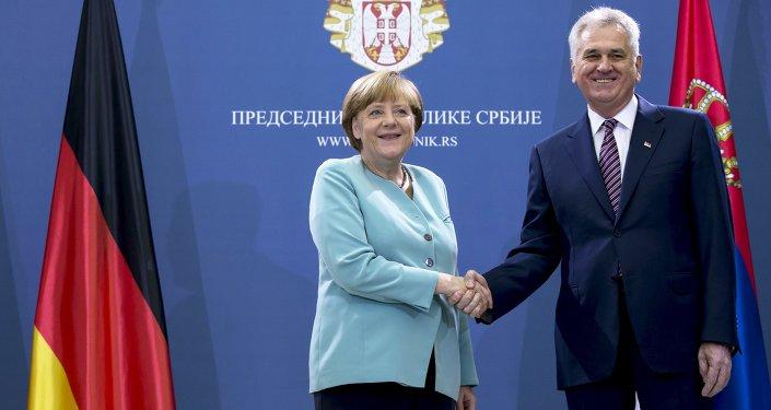Angela Merkel et Tomislav Nikolic, Juillet  9, 2015