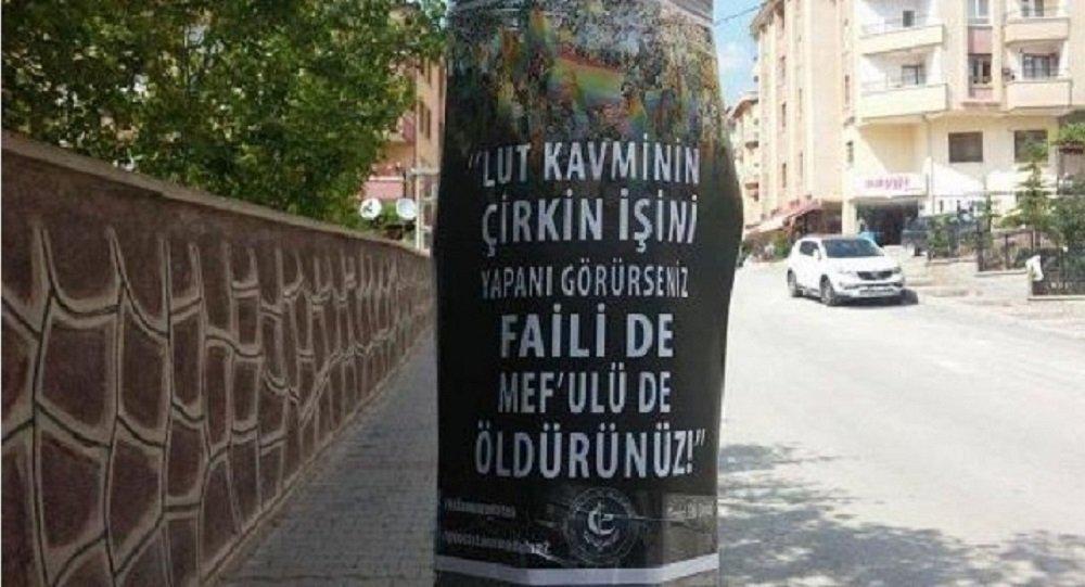 Les affiches anti-homosexuels ont été disséminées au quatre coins d'Ankara