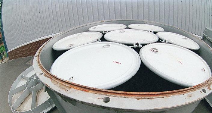 Conteneurs avec déchets radioactifs