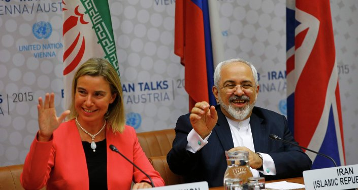 Federica Mogherini et Javad Zarif