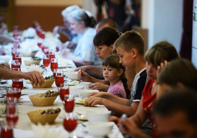 Réfugiés ukrainiens à Veliki Novgorod (archives)