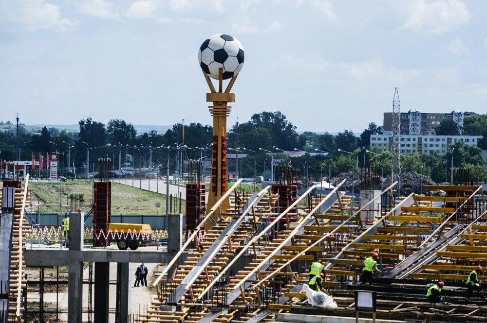 Le chantier du stade Mordovia Arena de Saransk