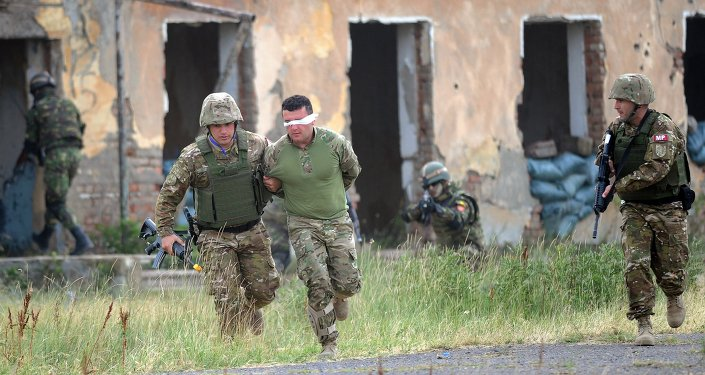 Des soldats géorgiens participent aux exercices conjoints avec l'Otan Agile Spirit 2015