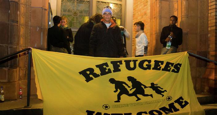 Réfugiés à Berlin, 2014