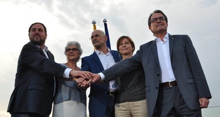 Presentation de l'Ensemble pour le oui, une liste électorale indépendantiste catalane