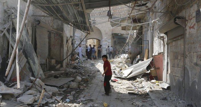 Maison endommagée en Syrie