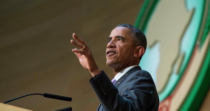 Le président américain Barack Obama intervenant à Addid-Abeba (Ethiopie) le 28 juillet 2015