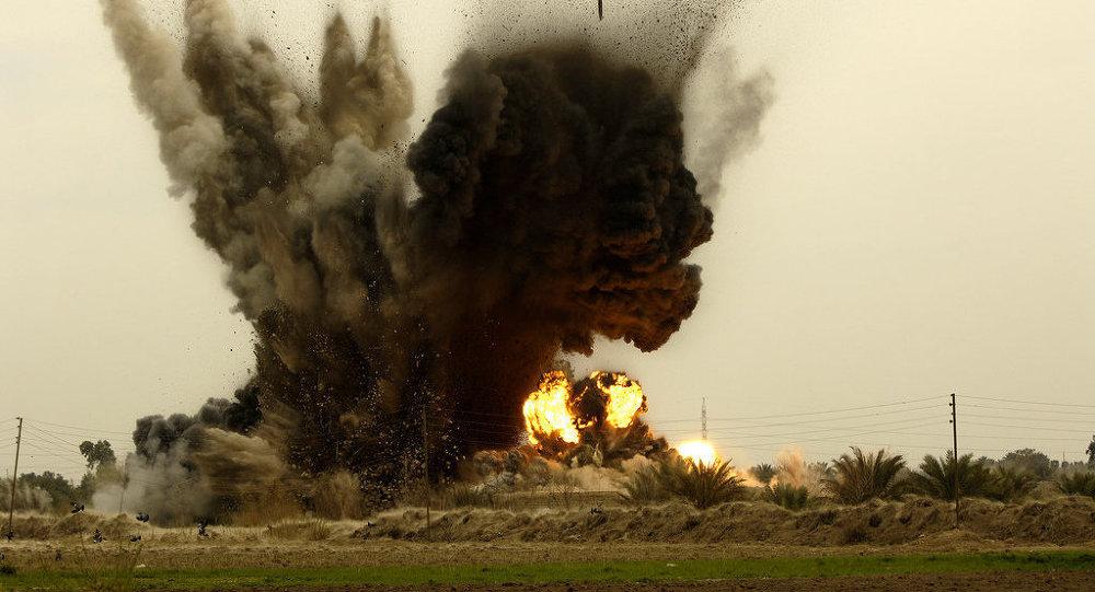 le bombardement de l'Irak