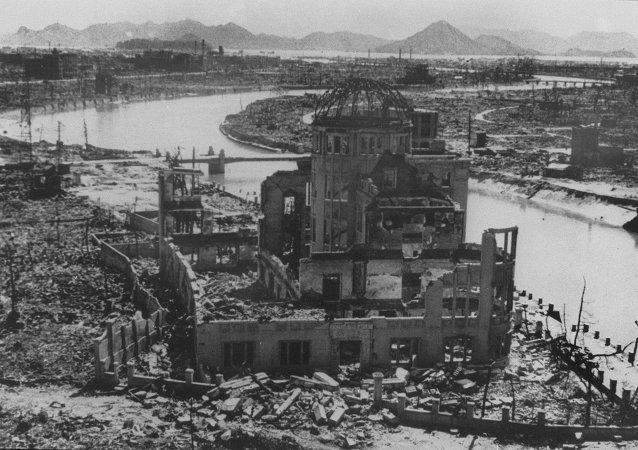Vue d'Hiroshima après le bombardement nucléaire, septembre 1945