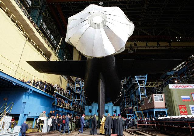 Mise à l'eau du sous-marin nucléaire Severodvinsk, classe Iassen