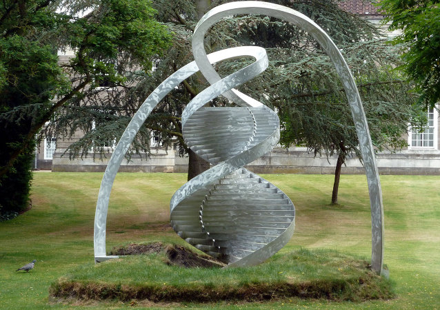 Aluminium DNA Helix , Clare College, Cambridge