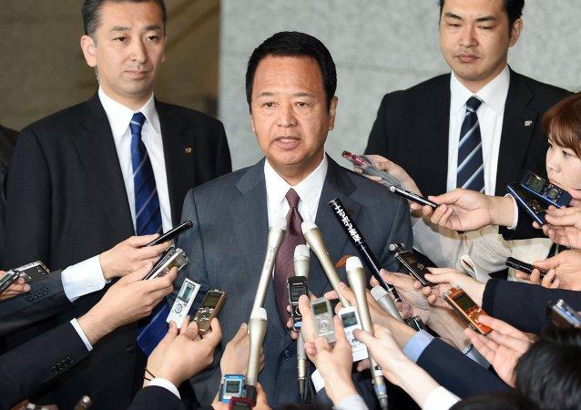 Le ministre japonais de la Renaissance économique Akira Amari. Archive photo