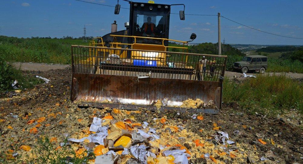 Destruction de produits sous embargo russe