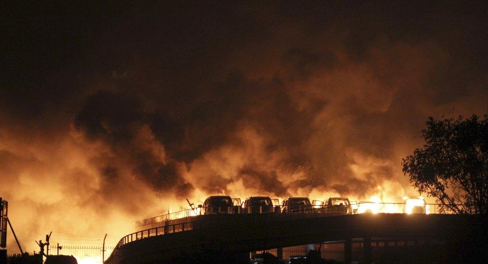 Explosions à Tianjin (nord-est de la Chine).