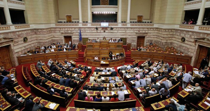 Le parlement grec. Archive photo