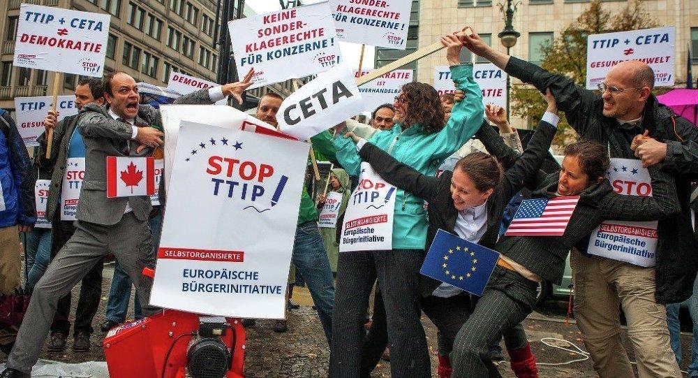 Manifestation contre le TTIP