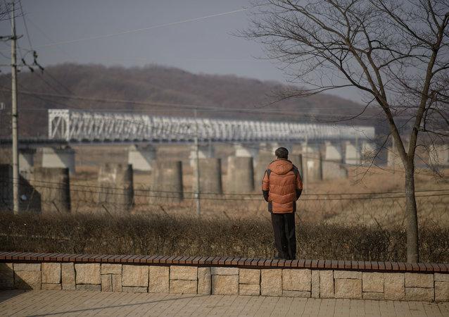 Zone démilitarisée (DMZ) entre la Corée du Nord et la Corée du Sud