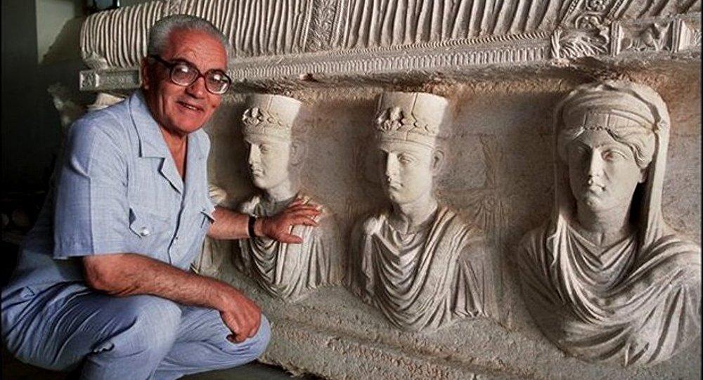 Khaled Assaad, directeur du site archéologique de Palmyre (Syrie)