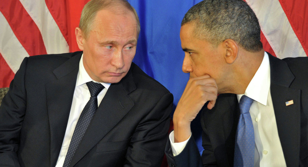 Vladimir Poutine et Barack Obama. Archive photo