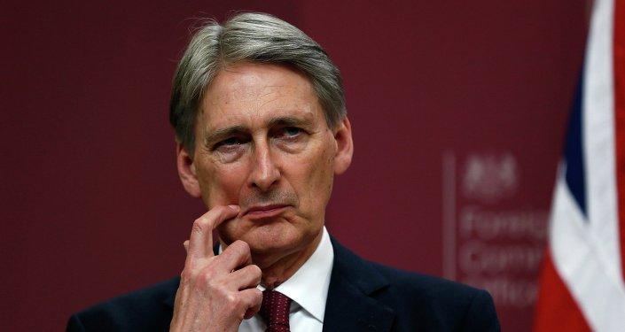 Le chancelier de l'Échiquier du gouvernement Theresa May, Philip Hammond