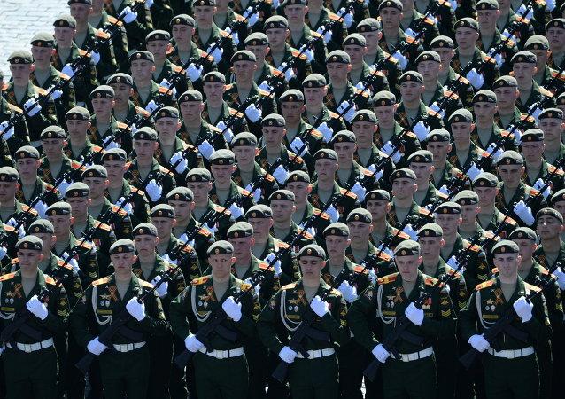 Défilé militaire sur la place Rouge à Moscou