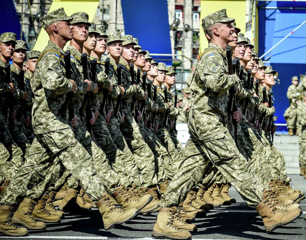 Ukraine: la parade militaire du jour de la fête de l'Indépendance