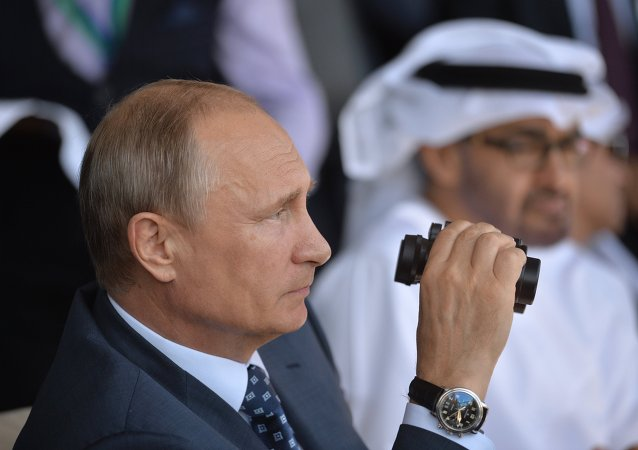 Vladimir Poutine. Salon aérospatial MAKS 2015